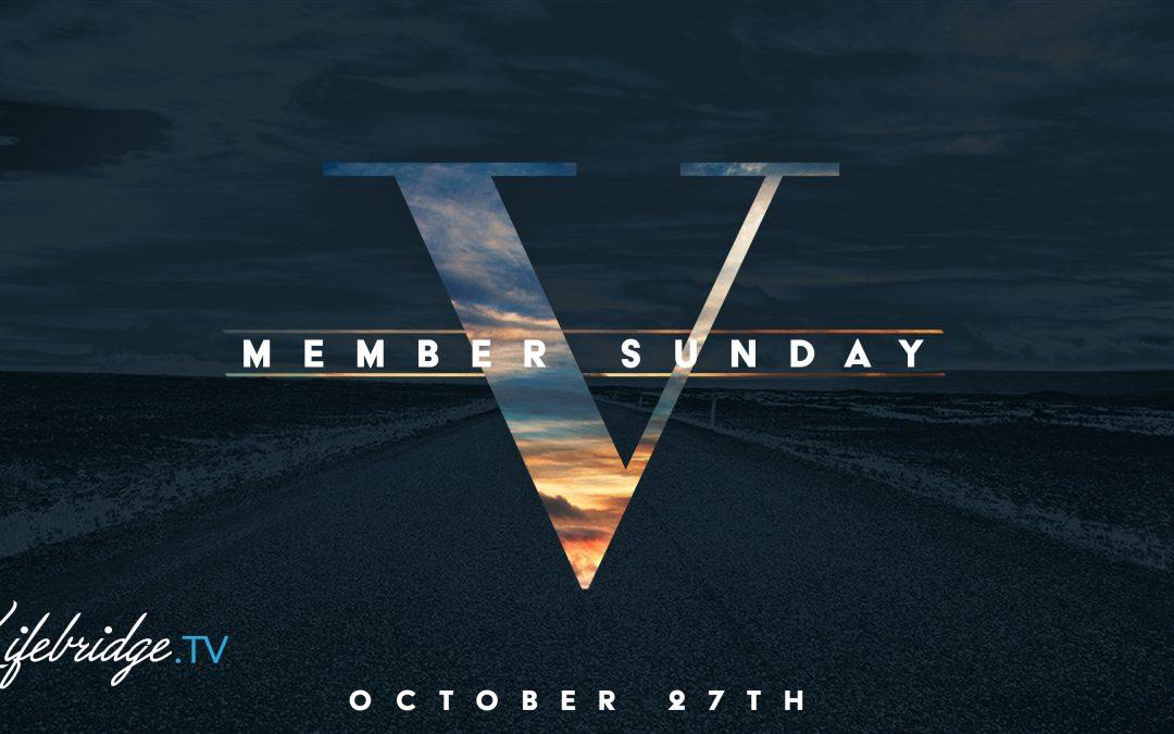 NEW MEMBER SUNDAY OCT. 27